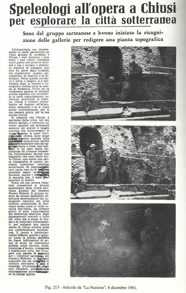 Articolo de La Nazione 1961