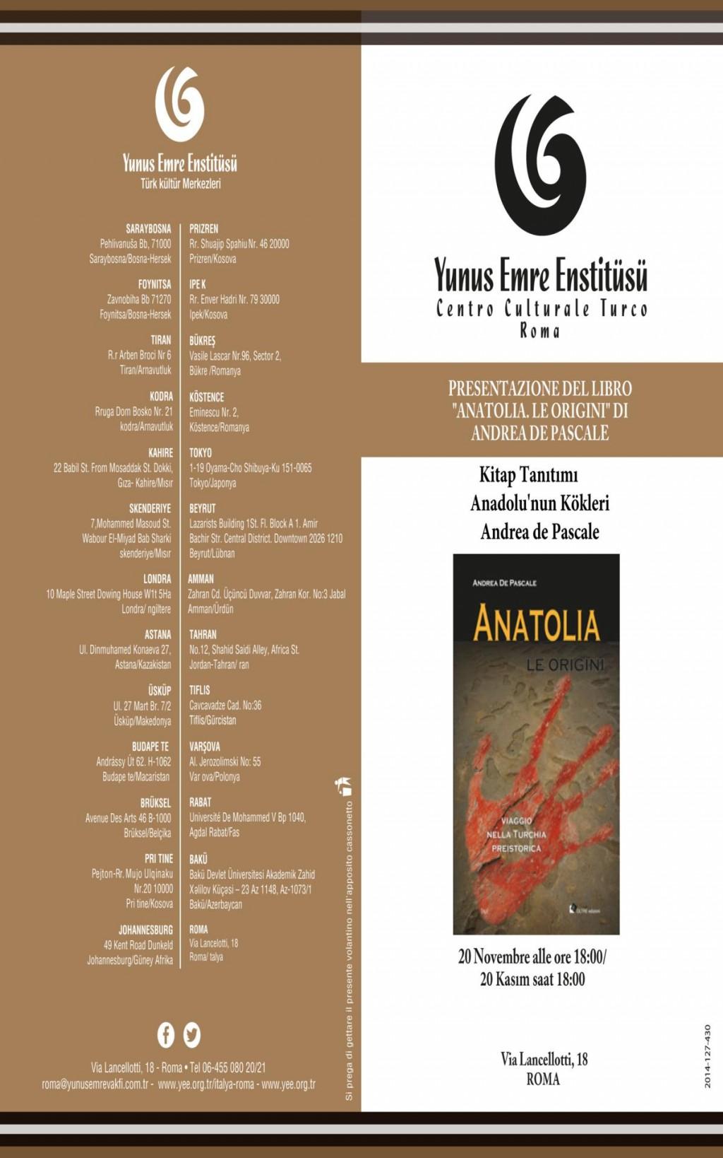 Anatolia presentazione volume roma