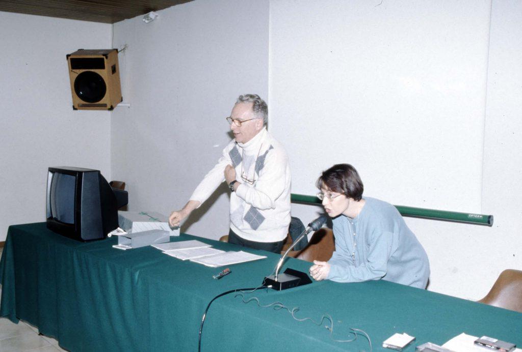 """1996: Corso SSI """"Roma Sotterranea"""" (foto C. Germani - EGERIA)"""